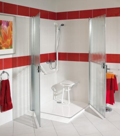 douche accessible aux personnes mobilit r duite pmr. Black Bedroom Furniture Sets. Home Design Ideas